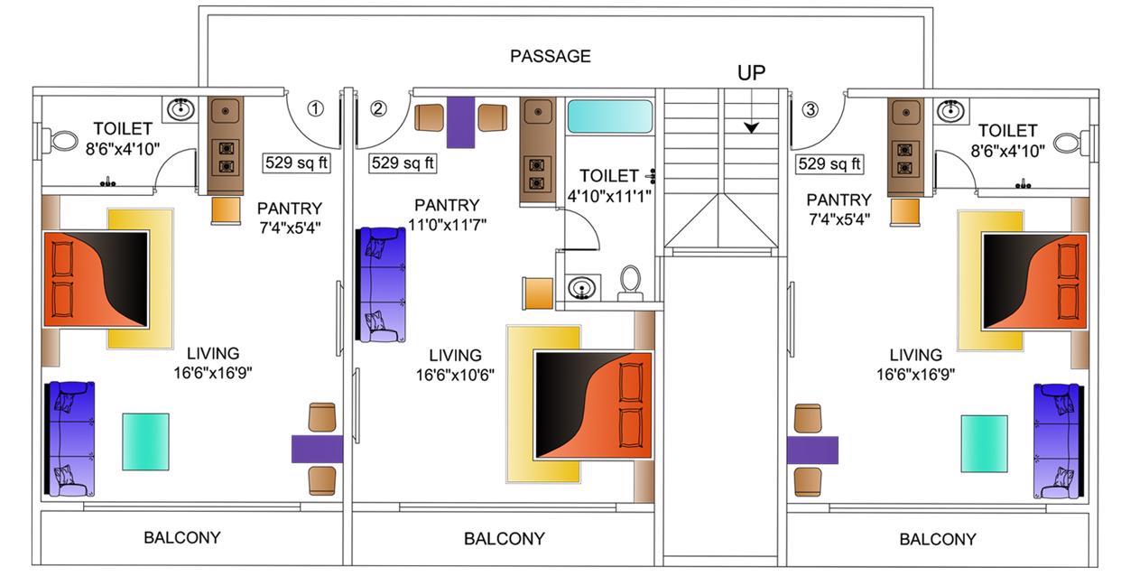 Big Studio Floor Plan